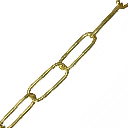 35mm x 11mm x 2.6mm Brass Plated Chain Per Metre